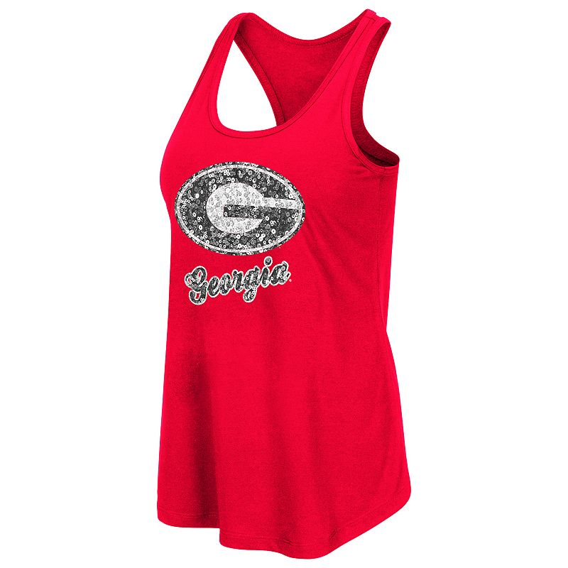 Women's Campus Heritage Georgia Bulldogs Spark Sequined Tank Top