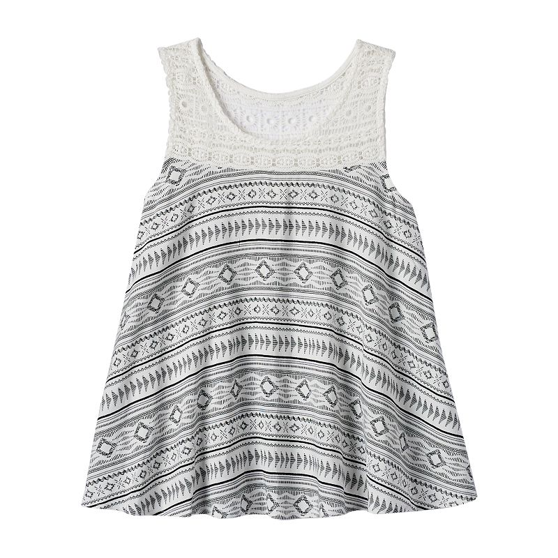 Girls 7-16 & Plus Size Mudd® Crochet Yoke Tank Top
