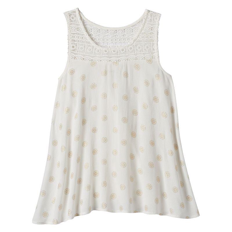 Girls 7-16 & Plus Size Mudd® Crochet Yoke Tank Top