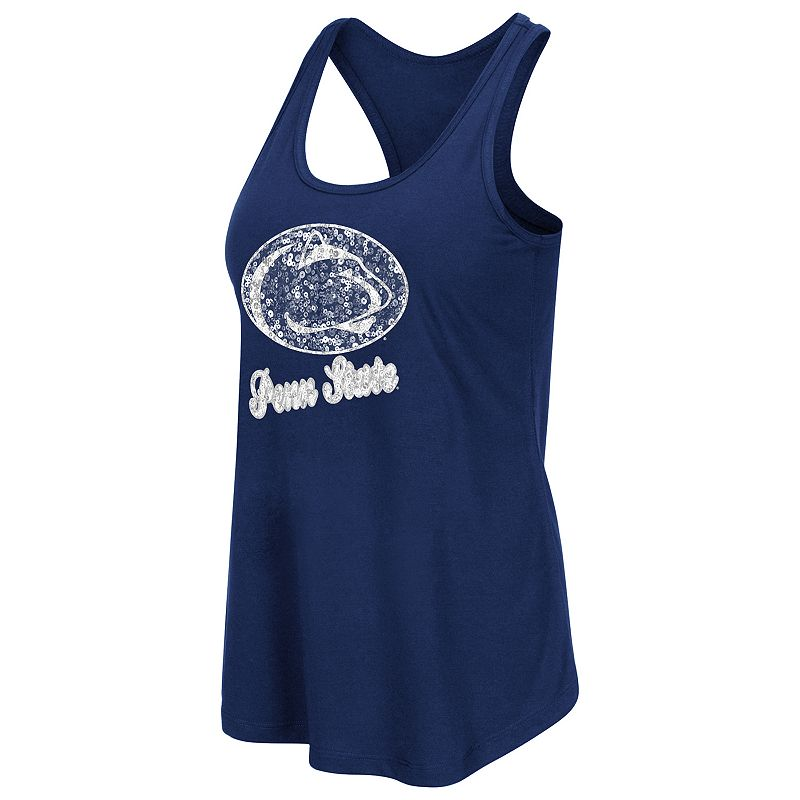 Women's Campus Heritage Penn State Nittany Lions Spark Sequined Tank Top