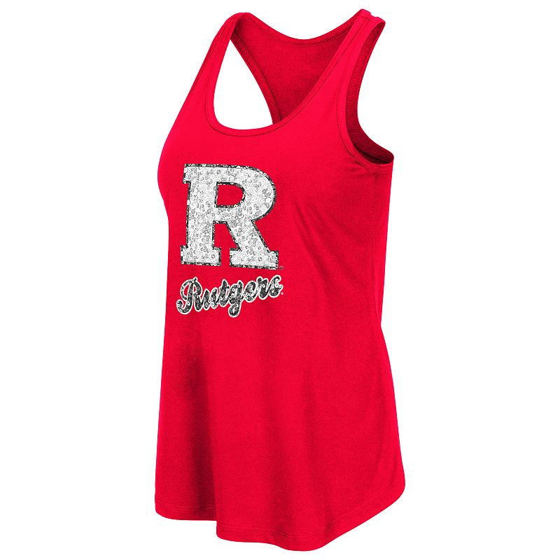 Women's Campus Heritage Rutgers Scarlet Knights Spark Sequined Tank Top
