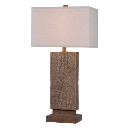 Kenroy Home Raffia Table Lamp