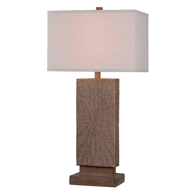 Kenroy Home Raffia Table Lamp