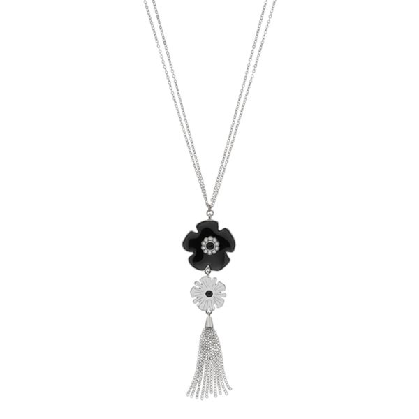 Long Flower Tassel Pendant Necklace