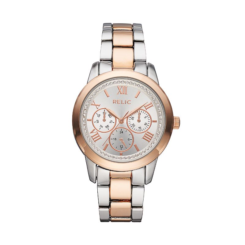Relic Women's Kendall Crystal Two Tone Watch