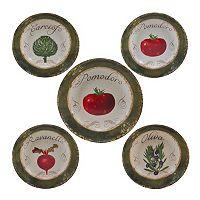 Certified International Pomodoro 5-pc. Pasta Serving Bowl Set