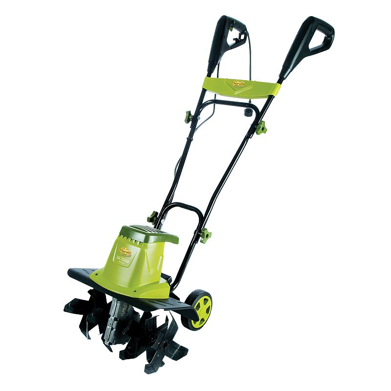 Sun Joe Tiller Joe Electric Tiller Cultivator, Green