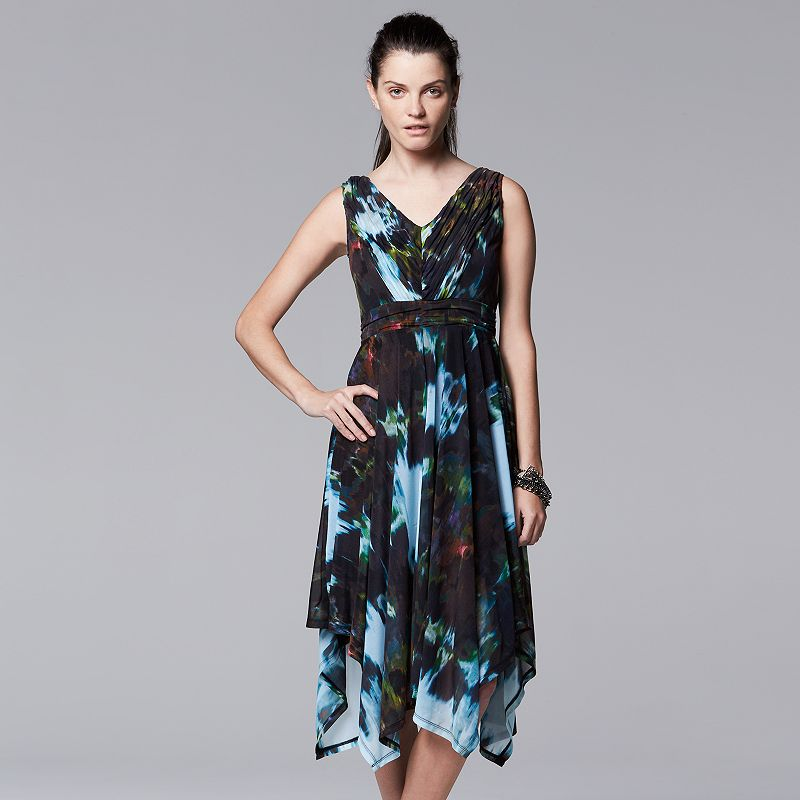 Petite Simply Vera Vera Wang Ikat Handkerchief Dress