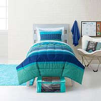 Simple By Design Boho Blue 8-piece Dorm Kit