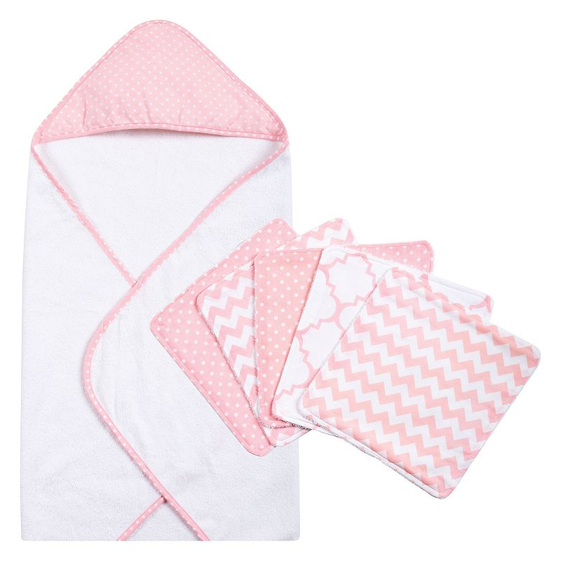 Trend Lab 6-pc. Polka-Dot Hooded Towel & Washcloth Set