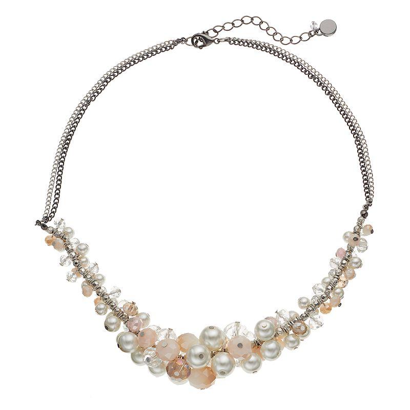 Simply Vera Vera Wang Graduated Bead Collar Necklace