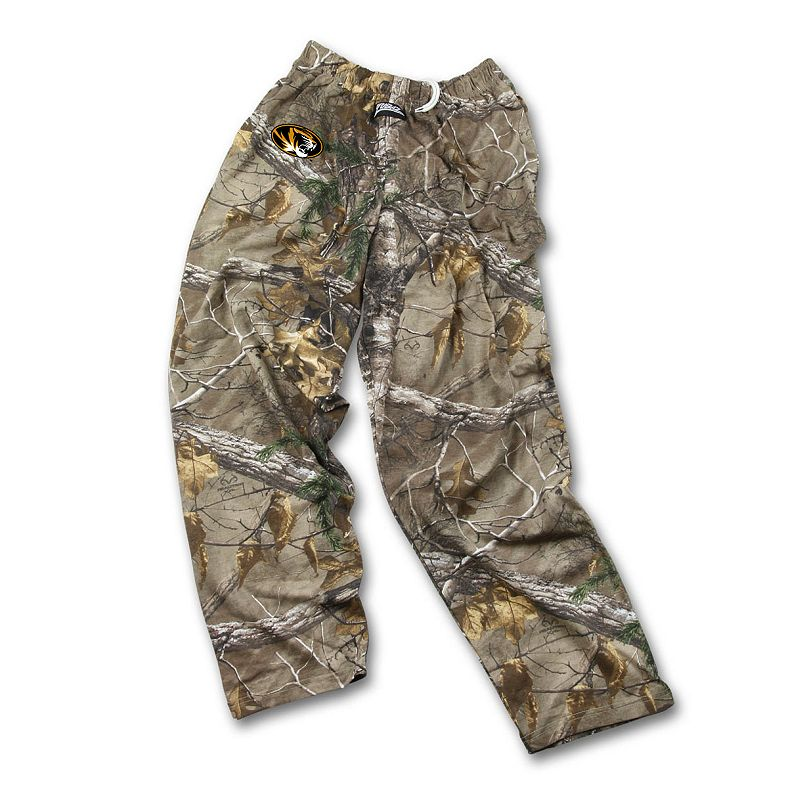 Men's Zubaz Missouri Tigers Realtree Camouflage Athletic Pants