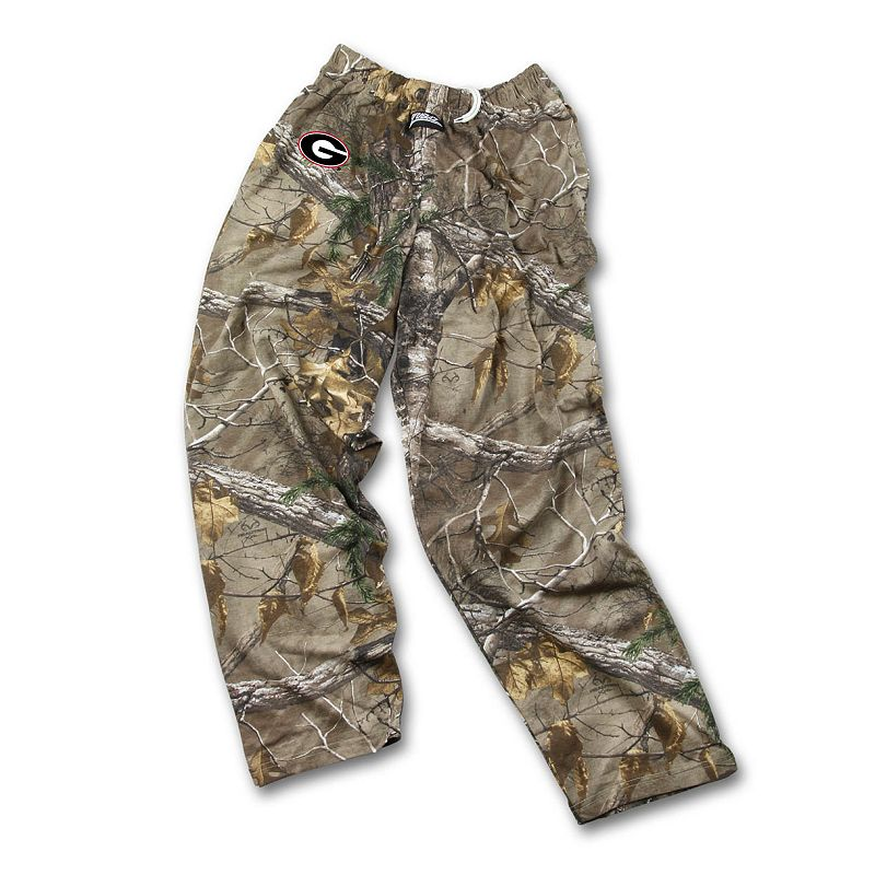 Men's Zubaz Georgia Bulldogs Realtree Camouflage Athletic Pants