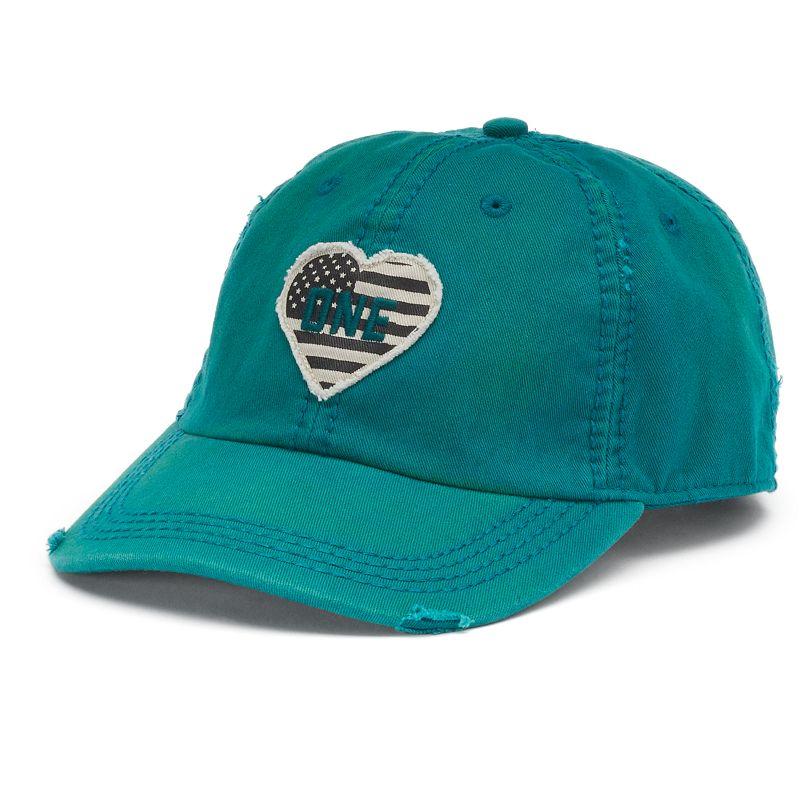Life is Good American Flag Heart Baseball Hat