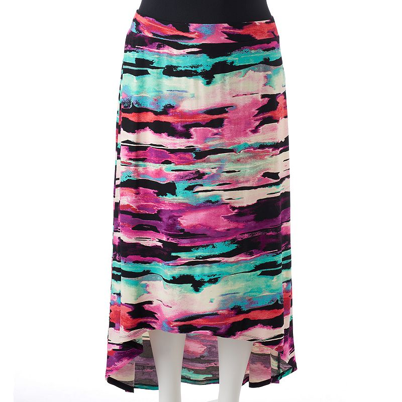 Plus Size Apt. 9® High-Low Maxi Skirt