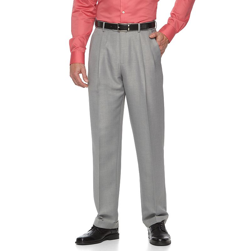 Men's Croft & Barrow® Essential Classic-Fit Pleated Dress Pants