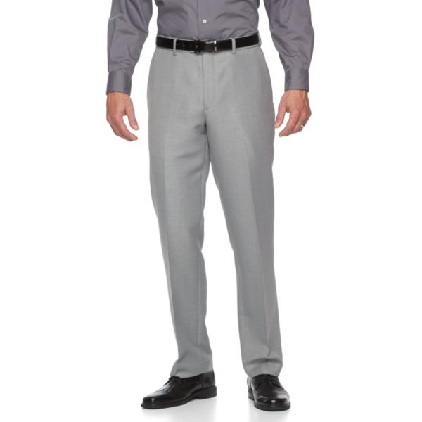 Men's Croft & Barrow® Classic-Fit Crosshatch Dress Pants