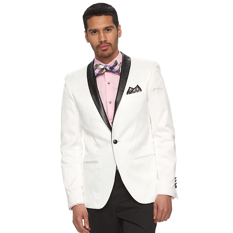 Men's WD.NY Slim-Fit White Tuxedo Jacket