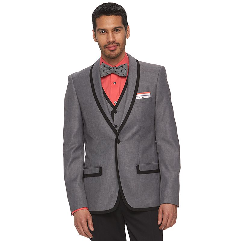 Men's WD.NY Slim-Fit Gray Tuxedo Jacket
