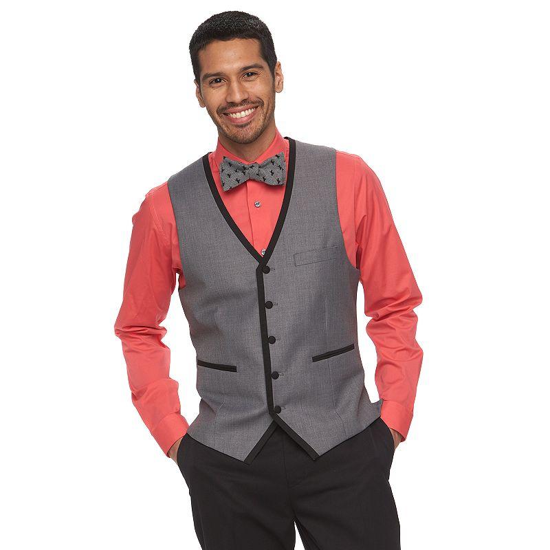 Men's WD.NY Slim-Fit Gray Tuxedo Vest