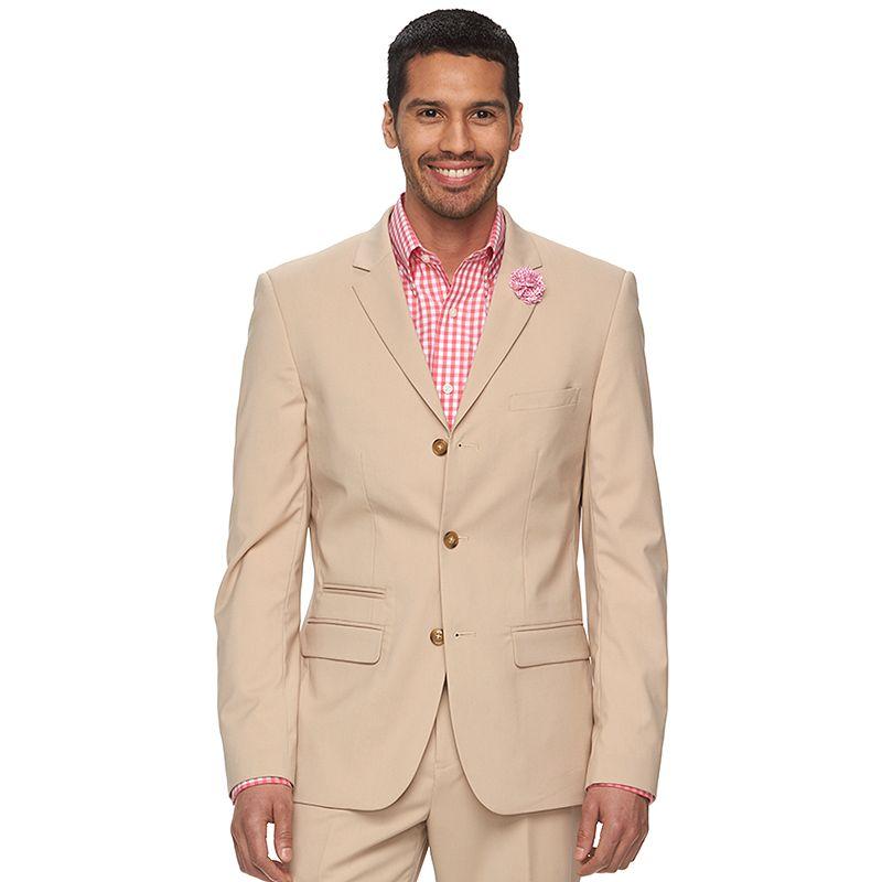 Men's WD.NY Slim-Fit Tan Suit Jacket
