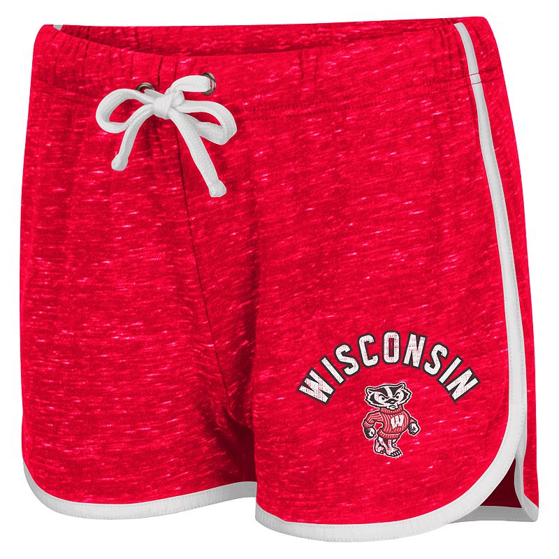 Juniors' Campus Heritage Wisconsin Badgers Gym Shorts