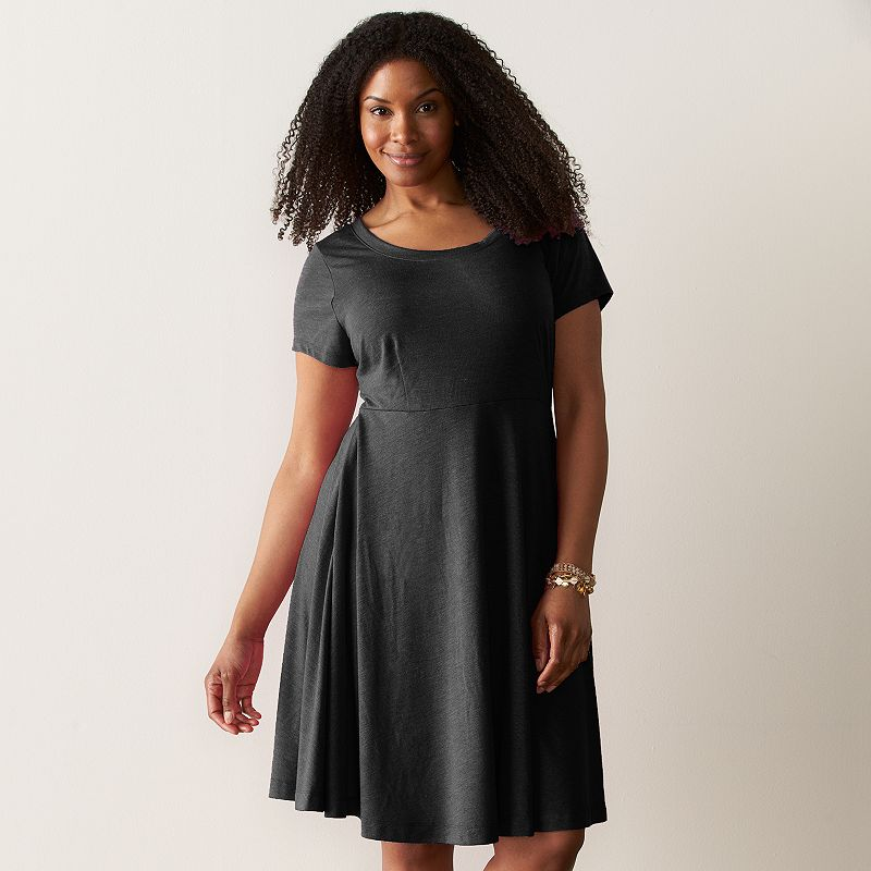 Plus Size SONOMA Goods for Life™ Scoopneck Fit & Flare Dress