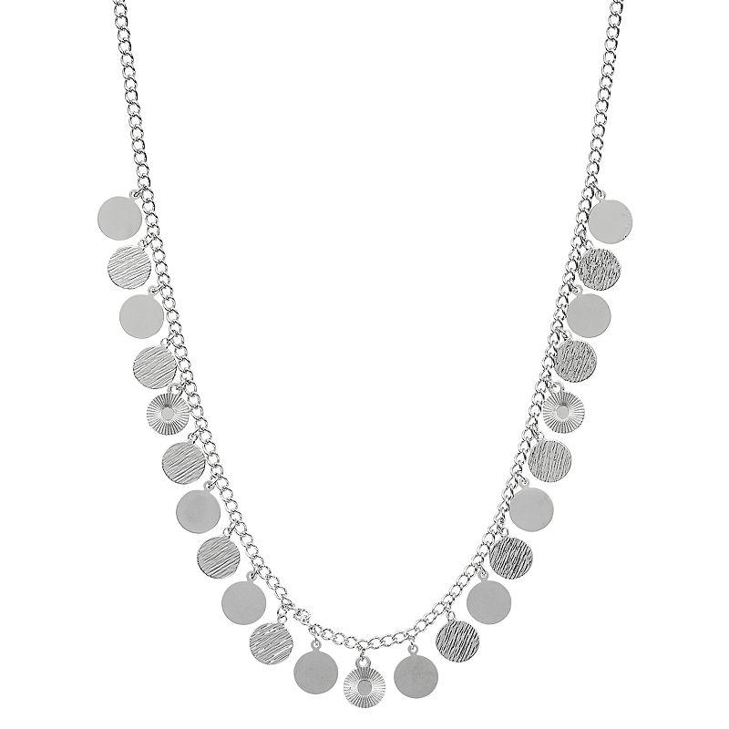 Jennifer Lopez Long Disc Charm Necklace