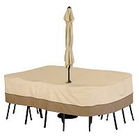 Classic Accessories Veranda Large Rectangle Patio Table Cover & Umbrella Hole