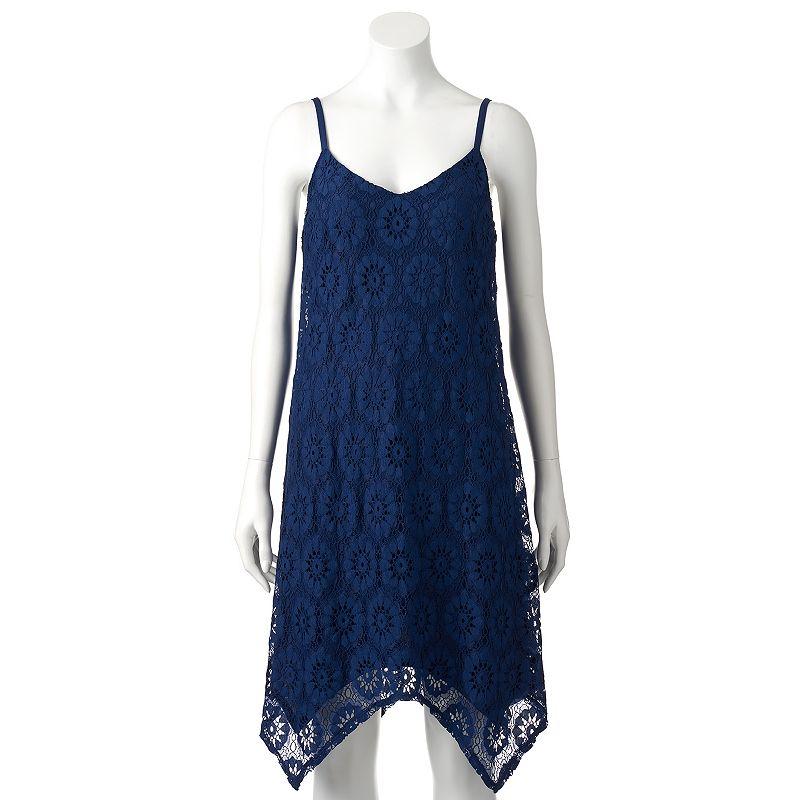 Women's Luxology Handkerchief Lace Tank Dress