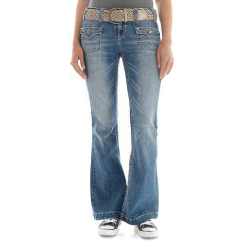 Juniors' Wallflower Luscious Curvy Flare Jeans