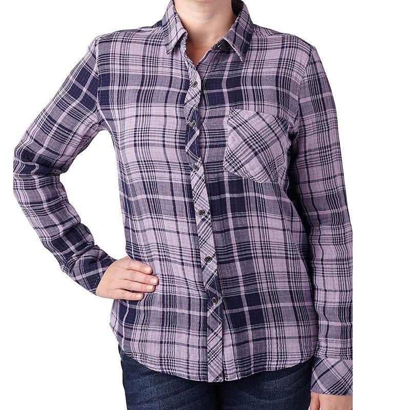 Women's Seven7 Button Down Plaid Shirt