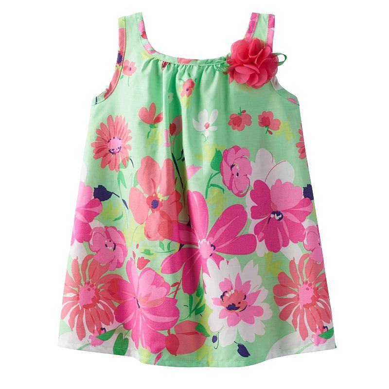 Baby Girl Sophie Rose Floral Rosette Sundress