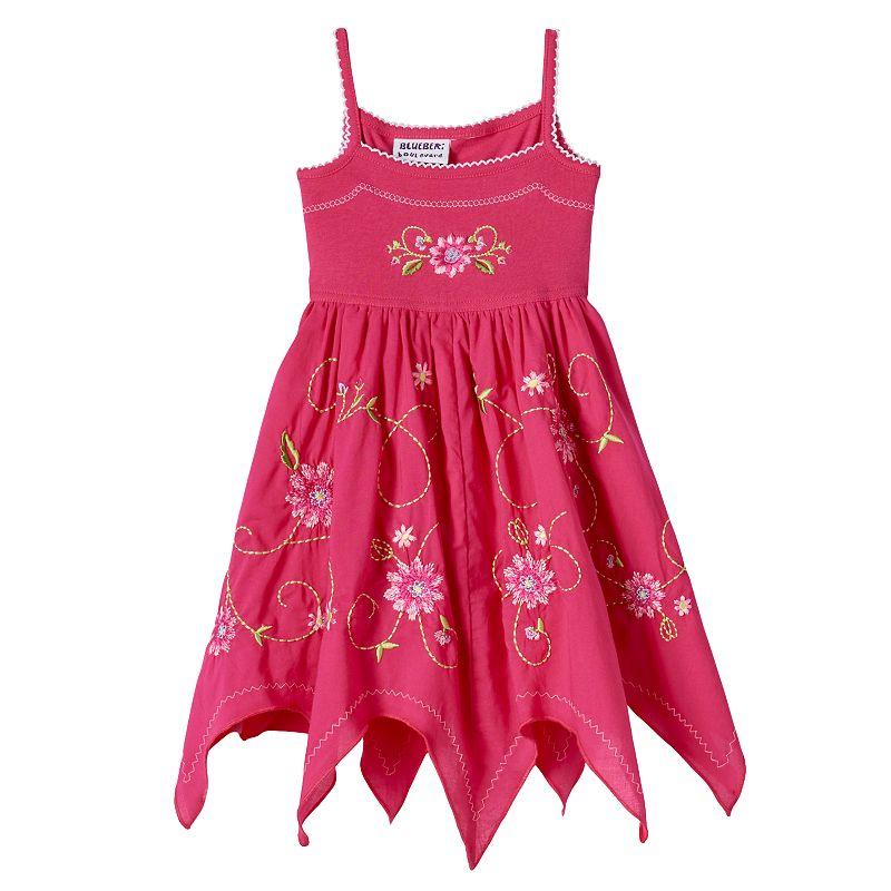 Baby Girl Blueberi Boulevard Handkerchief-Hem Sundress