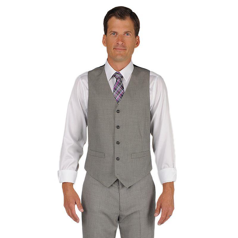 Men's Dockers Classic-Fit Gray Sharkskin Vest