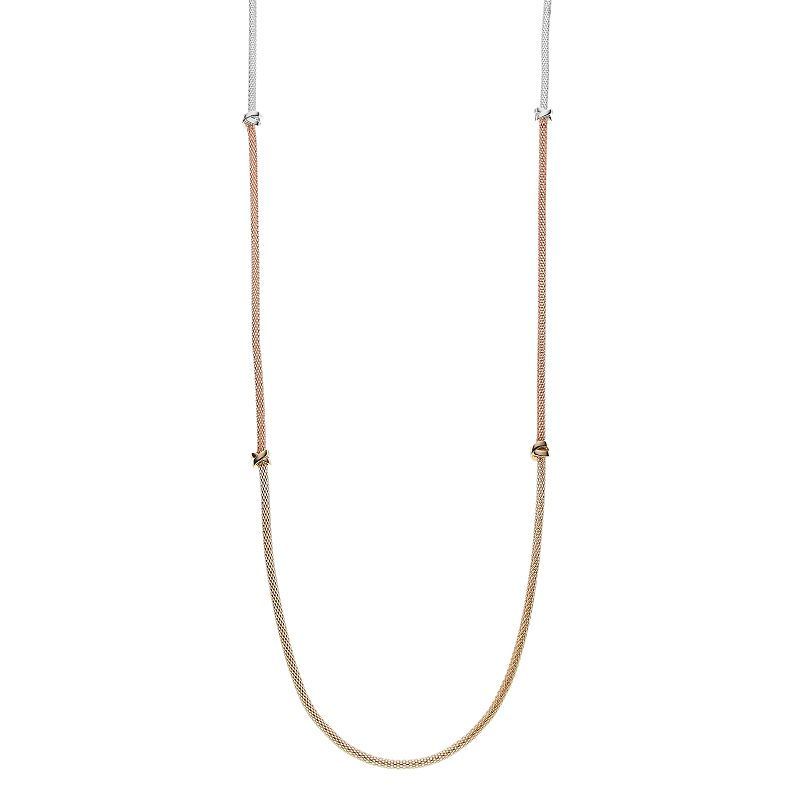 Apt. 9® Long Tri Tone Crisscross Station Necklace