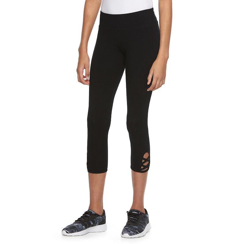 Juniors' SO® High-Waisted Crisscross Yoga Capris