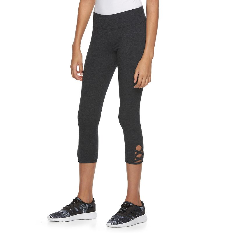 Juniors' SO® High-Waisted Crisscross Yoga Capris