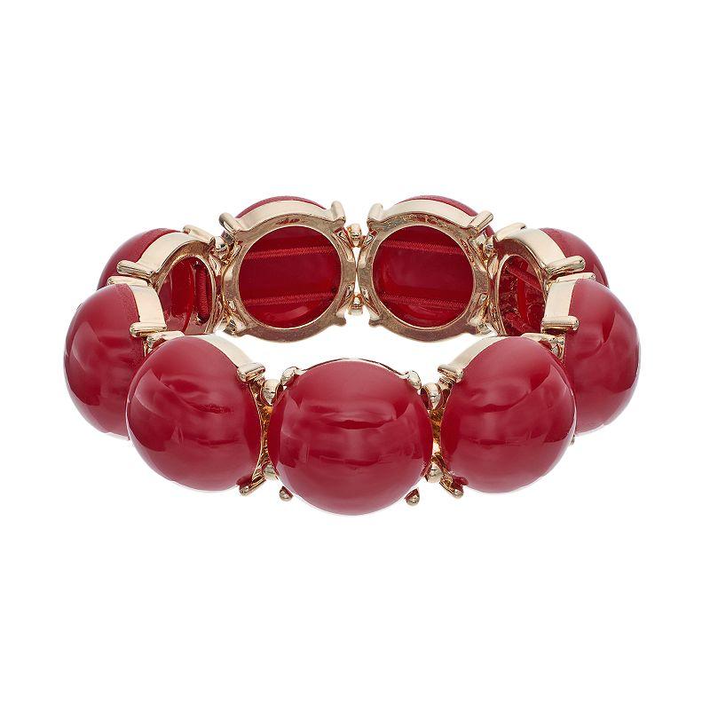 Apt. 9® Red Cabochon Stretch Bracelet