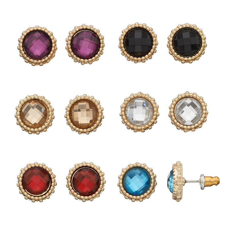 Mudd® Halo Circle Stud Earring Set