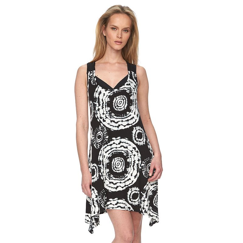 Women's Portocruz Printed Macrame-Back Cover-Up