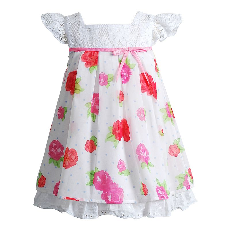 Baby Girl Youngland Floral Lace Dress