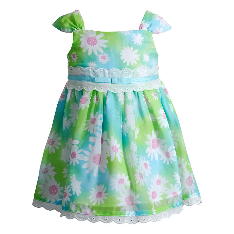 Baby Girl Youngland Floral Eyelet Dress
