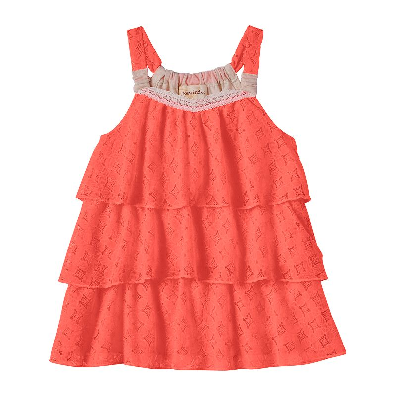 Girls 7-16 Rewind Lace Ruffle Tank