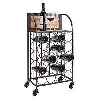 Linon Wine Rack Cart