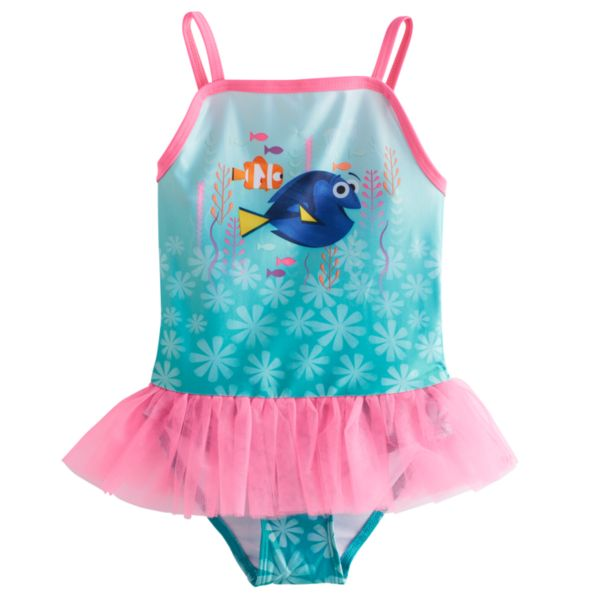Disney / Pixar Finding Dory Toddler Girl One-Piece Tutu Swimsuit by Jumping Beans®
