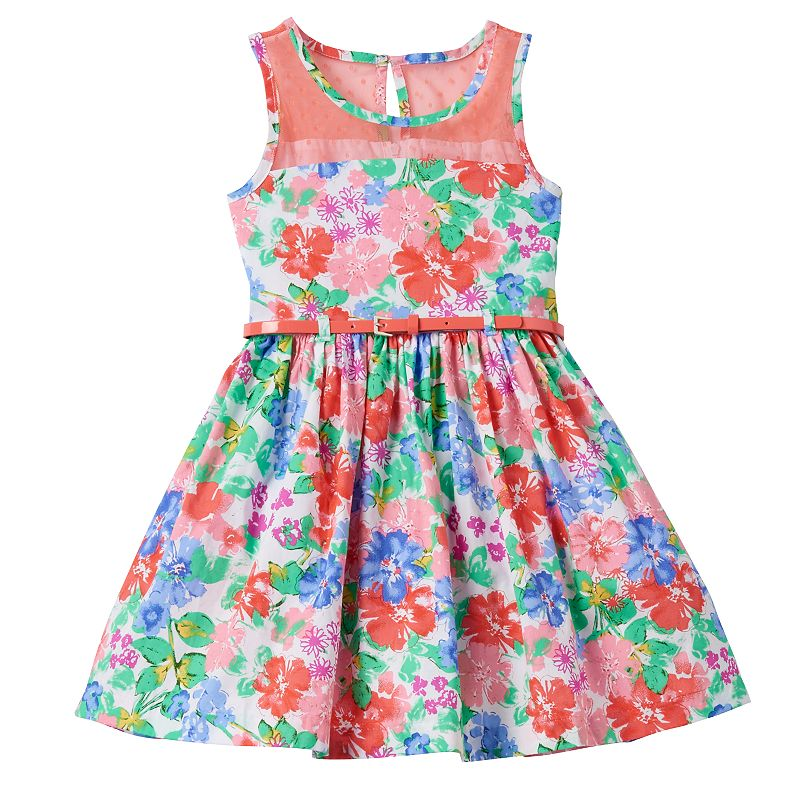 Girls 4-6x Nannette Multi-Colored Flower Dress