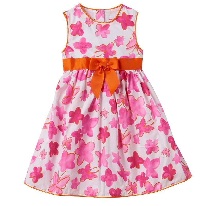 Girls 4-6x Nannette Floral Butterfly Dress
