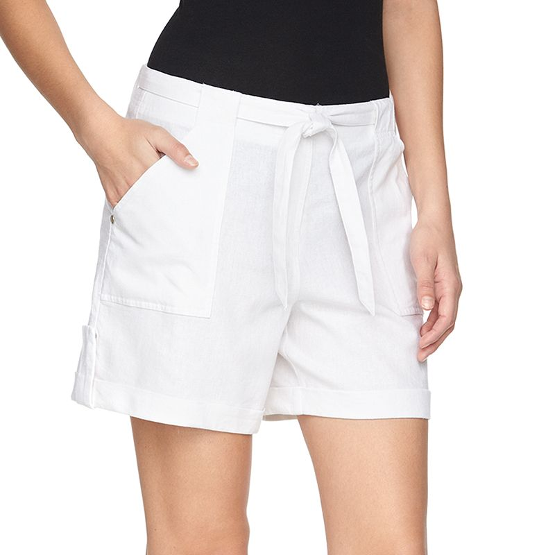 Women's Juicy Couture Roll-Cuff Linen Blend Shorts