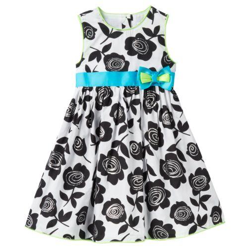 Girls 4-6x Nannette Foil Flower Dress